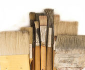 Used brushes — Stock Photo