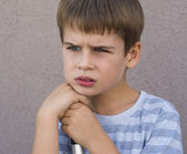 Young boy thinking — Stock Photo