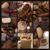 Hot chocolate collage — Stock Photo