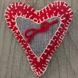 Textile heart - Stock Photo