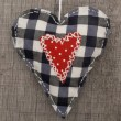 Textile heart — Stock Photo