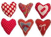 Collectie voor textiel hearts — Stockfoto