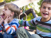 Brothers in the park — Stock Photo