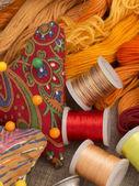 Materiale cucito — Foto Stock