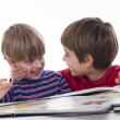 Boys reading together — Stock Photo #19209967