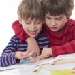 Boys learning together  — Stock Photo