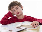 Boring homework — Stock Photo