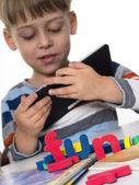 A boy playing — Stock Photo
