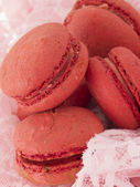 Red macaroons — Stock Photo