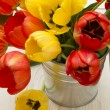 Red and yellow tulips — Stock Photo #20308877