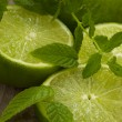 Lime with mint — Stock Photo