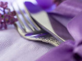 Fork and knife, shallow focus — Stock Photo