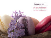 Macaroons with place for the text macaroons with place for the text — Stockfoto
