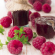 Raspberries jam — Stock Photo