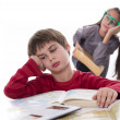 Lazy pupils, books can be very boring — Stock Photo #35497717