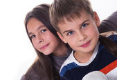 Beautiful girl and a boy — Stock Photo