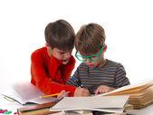 Chlapci učí společně — Stock fotografie