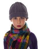 Cute boy in winter clothes — Stock Photo