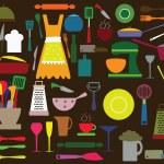 Kitchen utensils — Stock Vector #36864029