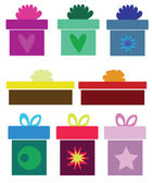 Collection of various gifts — Stockvector