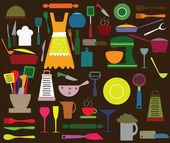 Kitchen utensils — Stock Vector