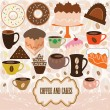 Coffee and cakes — Stock Vector