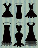 Black dresses collection — Stock Vector