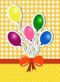 Party background with ballons — Vecteur