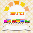 Toy train greeting card — Stock Vector