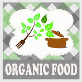 Fresh and organic food — Wektor stockowy