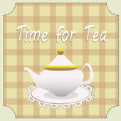 Bule de chá — Vetorial Stock