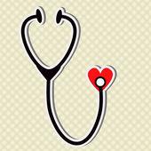 Medical stethoscope — Stock Vector