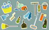 Cleaning tools — Stock Vector