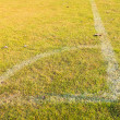 Corner of football or soccer field — Stockfoto