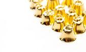 Golden bell on white background — Stock Photo