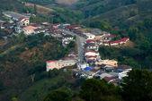 Village on mountain in thailand — Stock Photo
