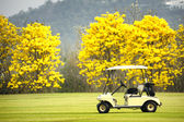 Golf club car : morning feel — Stock Photo