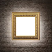 Frame on modern brick wall — Stock Photo