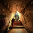 The ancient tunnel U-Mong temple Chiangmai Thailand — Stock Photo