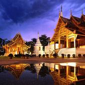 Phra Singh temple twilight time — Stock Photo