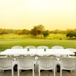 Stock Photo: Table beside golf course