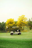 Golf club car : morning feel — Stockfoto