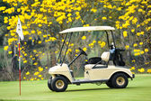 Golf club car : morning feel — Stock Photo