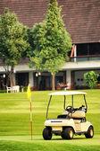 Golf club car : morning feel — Foto de Stock