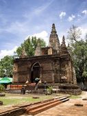 Jed-Yod temple : Chiang Mai Thailand — Stock Photo