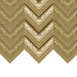 Curtain gold frame — Stock Photo