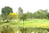 Green golf at morning — Stock Photo