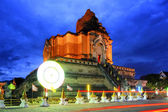 Chedi Luang temple : Chiang Mai Thailand. — Stock Photo