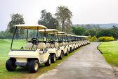 Golf kulübü araba — Stok fotoğraf