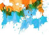 Splash acuarela abstracta — Foto de Stock